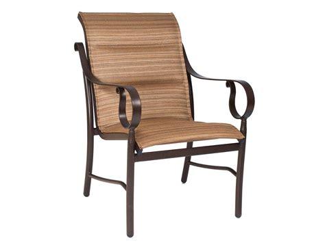 woodard ridgecrest padded sling aluminum dining chair 80m501