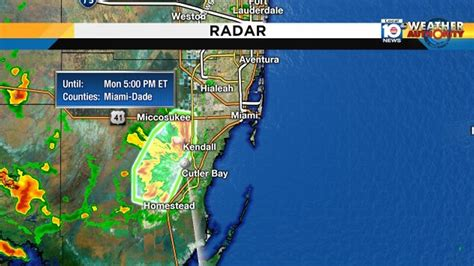 Parts Miami by Flood Advisory Issued For Parts Of Miami Dade Until 5 P M