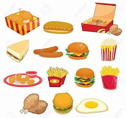 Clipart Junk Salty Snack Fatty Illustration Cartoon