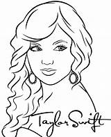 Swift Taylor Coloring Singer Printable Singers sketch template