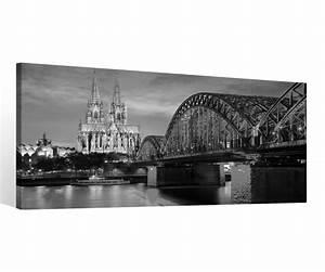 Leinwand Köln Skyline : leinwand 1 tlg k ln schwarz wei k lner dom br cke skyline ~ Sanjose-hotels-ca.com Haus und Dekorationen