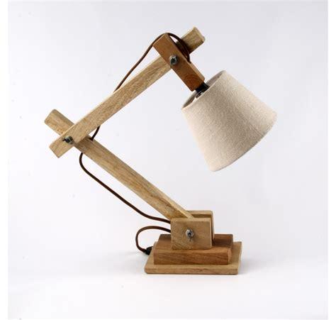 luminaire de bureau le de chevet ou bureau en bois naturel luminaire