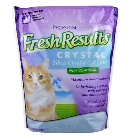 automatic self cleaning litter box pro sense fresh results silica cat litter 8 pound