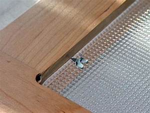 How to Install Cabinet Glass Inserts how-tos DIY