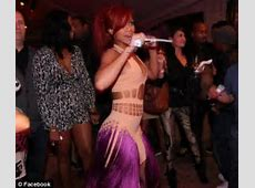 Rihanna's star studded 23rd birthday party Ice sculptures