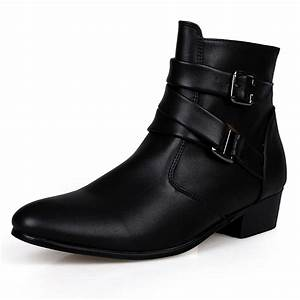 2017 Fashion Ankle Boots Men Suede Heel Genuine Leather ...