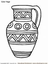 Vase Coloring Pages Colorat Decembrie Greek Romania Vases Printable Flower Drawings Children Hanukkah Colouring Pottery Ancient Roman Drawing Patterns Greece sketch template
