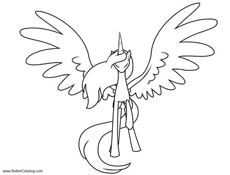 alicorn coloring pages lineart   clockwork