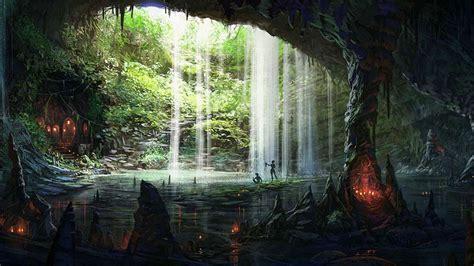 wallpaper  px cave fantasy underground