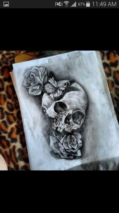 skulls roses  butterflies tattoos pinterest butterfly rose  tattoo