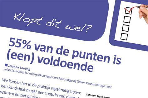 55% Is Voldoende, Klopt Dit Wel? » Testvision