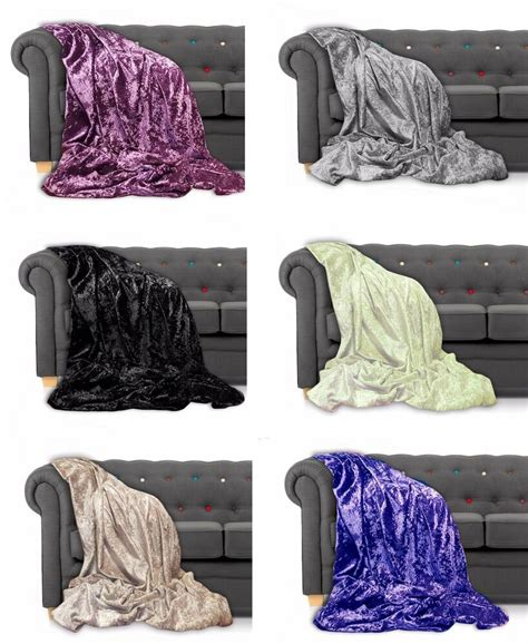 settee throw overs throw bedspread crushed velvet new sofa or bed throw