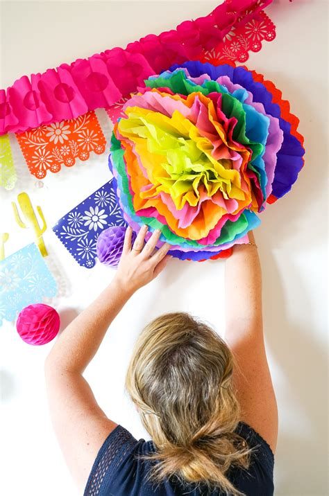 Fiesta Flower Tutorial Make Your Own Tissue Paper