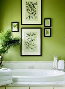 Plante Verte Salle De Bain : peinture salle de bain 80 photos qui vont vous faire craquer ~ Melissatoandfro.com Idées de Décoration