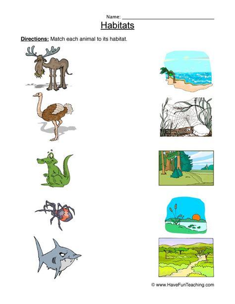animal habitats teaching