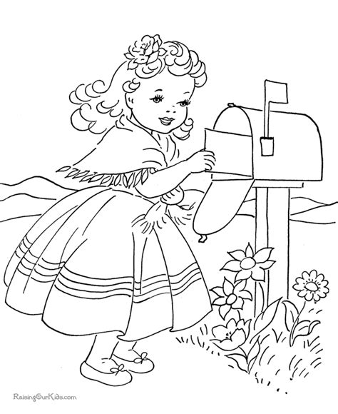 valentine day card coloring page