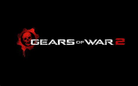hd gears  war  logo wallpaper