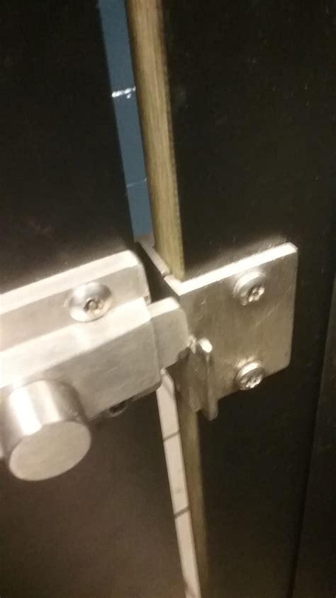 bathroom stall locks   dont fit