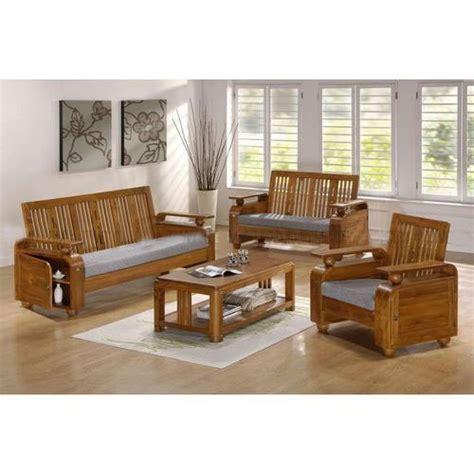 Sofa Set Made Of Wood by Teak Wood Sofa Set Size Dimension 5 3 Rs 32000 Set