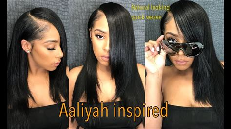 aaliyah without weave aaliyah inspired 90s natural weave rosabeauty hair youtube