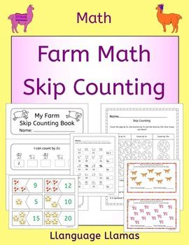 farm skip counting by 2s 3s 5s 10s farm math