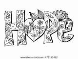 Hope Coloring Faith Words Word Sketchite Zentangle Sketch Display Credit Larger sketch template