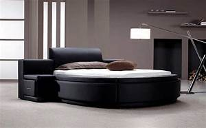 unique black bedroom furniture sets with round bed