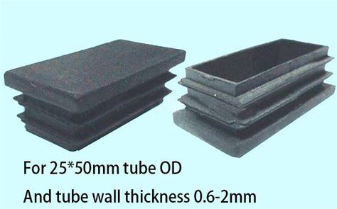 25 50mm oblong rectangle plastic