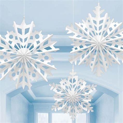 white paper christmas decorstions 3 white snowflake paper fan decorations light blue paper fan