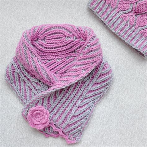 two color brioche stitch brioche stitch womens knit scarf scarf made two