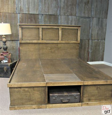diy platform bed  storage
