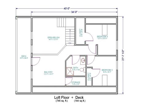 One Bedroom Loft Floor Plans by Simple Small House Floor Plans Small House Floor Plans