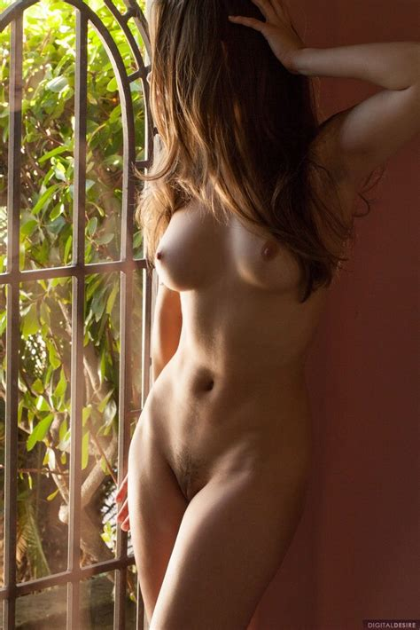 Erotic Babe Dani Daniels Posing Naked By A Window Of