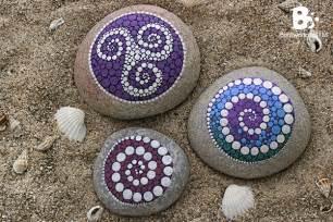 Colorful Mandala DIY Crafts Stones