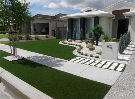 Vorgarten Ideen Gestaltung by Synthetic Grass Front Yard Designs Landscape Yards