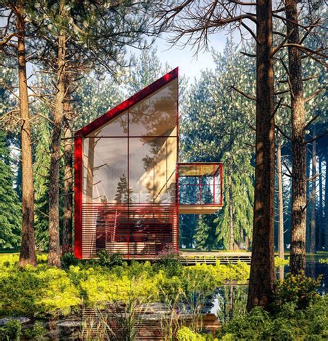 alexander nerovnya architecture  surrounded  nature home design  interior