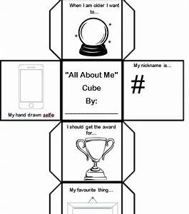 Back to school introduction all about me cube by hannah for About me template for students