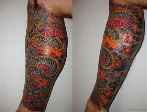 33 Modern Dragon Tattoos For Leg