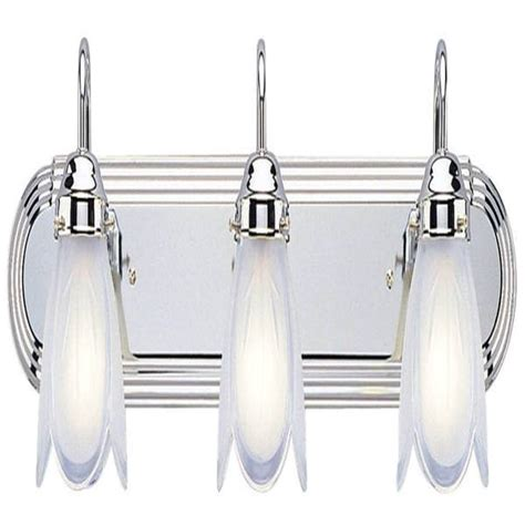 westinghouse 67477 3 light chrome wall bracket light