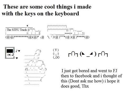 Funny Images You Can Make Keyboard