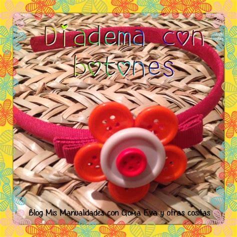 mis manualidades con goma y otras cositas diadema con flor de botones