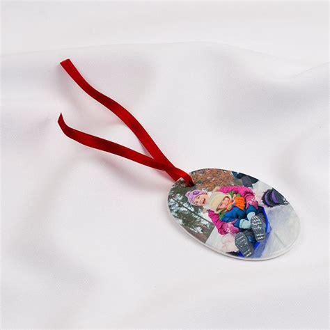 personalised photo christmas tree decorations ceramic