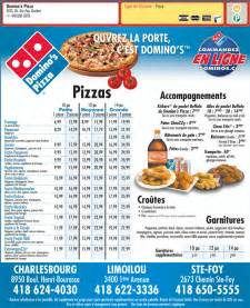 Domino's Pizza Menu