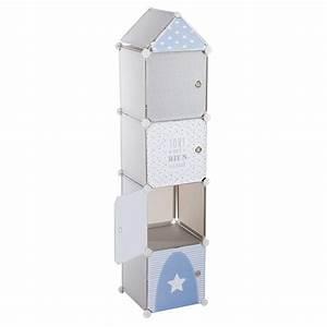 Colonne Rangement Plastique : rangement colonne gris atmosphera ~ Teatrodelosmanantiales.com Idées de Décoration