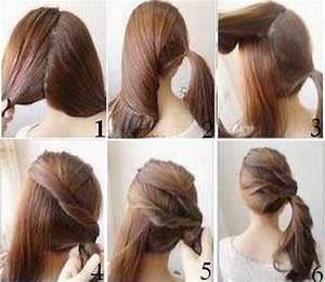 Coiffure Simple Femme : belle coiffure simple cheveux mi long ~ Melissatoandfro.com Idées de Décoration