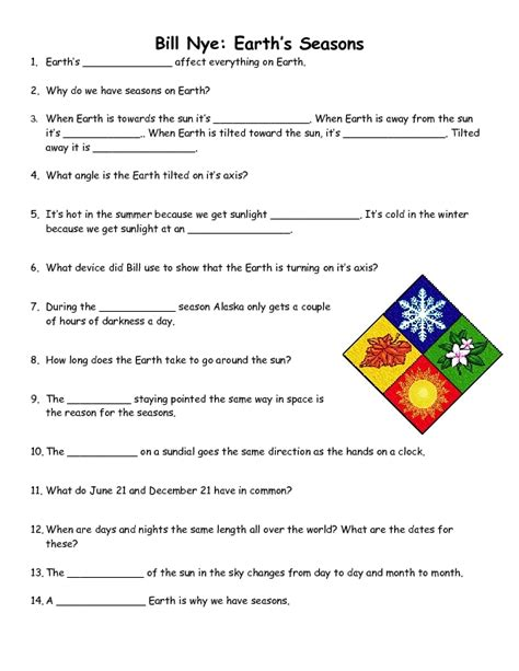 reason for the seasons worksheet free worksheets library