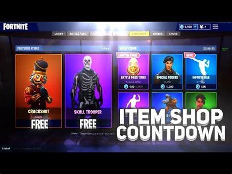 fortnite item shop countdown july  fortnite