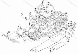 Arctic Cat Side By Side 2008 Oem Parts Diagram For Frame And Related Parts