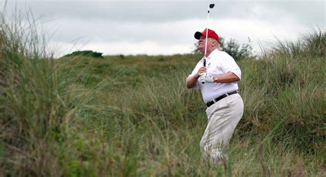 trump donald obama golf playing while burns politico gty