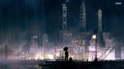 rainy city  night wallpaper